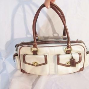 COACH 4453 GALLERY POCKETS Leather Satin Tote Bag